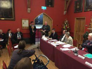 Philip Mirfin and Mayor Julian McGhee-Sumner